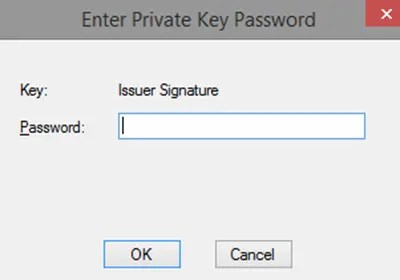 makecert.exe - re-enter private key password