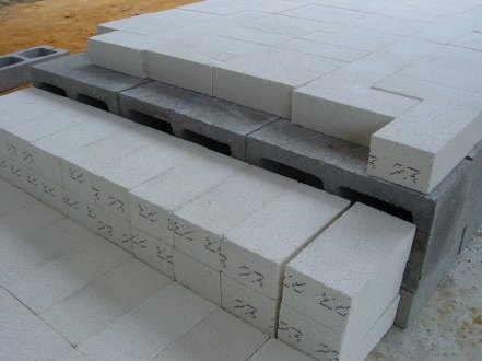 lining the foundation with insulating brick