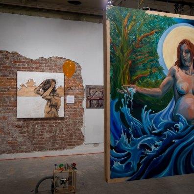 Installation view - Amie Villiger (foreground)