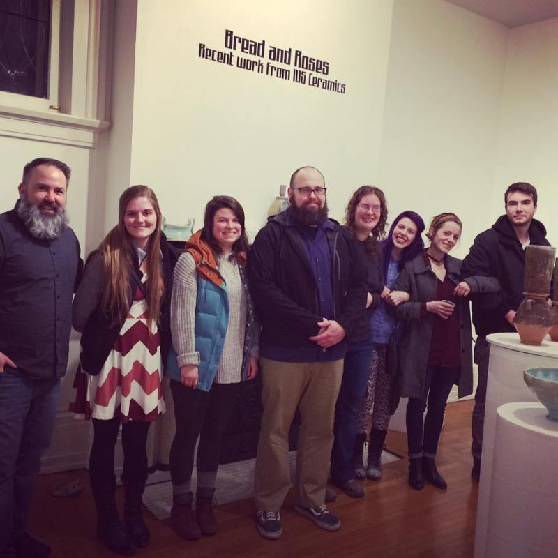Group photo from Bread and Roses exhibition