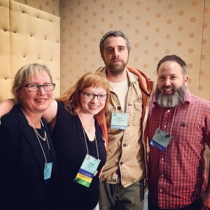 Me with Leslie Ferrin, Amanda Barr, and Justin Rothshank