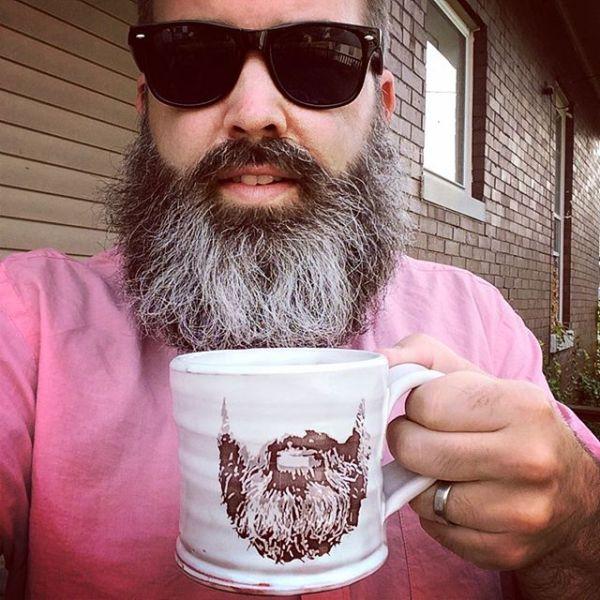 Me with beard mug