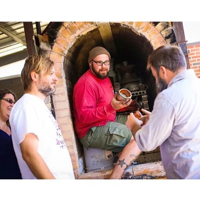 Unloading the wood kiln with Dan Marshall, Sam Chumley, and Jennifer Pelkey