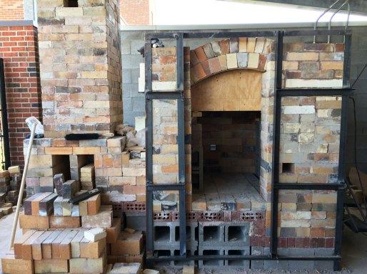 Soda kiln - arch form ready to take out