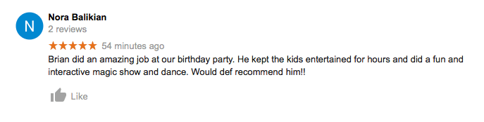 Google Review Nora