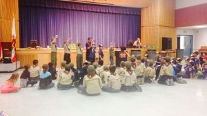 Brian performs for Cub Scouts and Blue and Golds