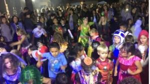Large kids dancing events at schools.