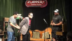 Brian performs at Flappers