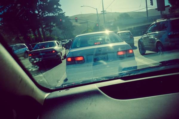 view through windshield