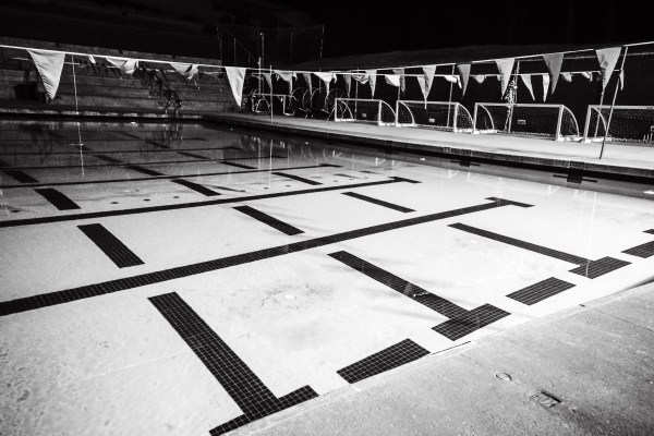 swimming pool at night | photograph by Brian J. Matis