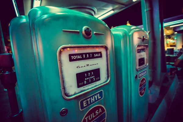 gas station at Disney California Adventure's Cars Land | photograph by Brian J. Matis
