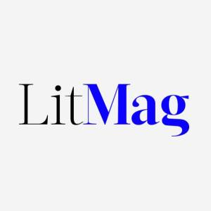 Inside a white box, the word Lit smashed against the word Mag