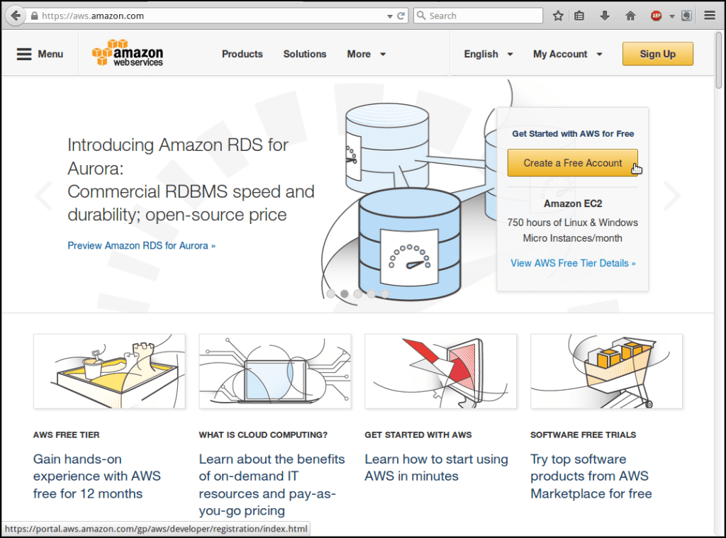 Create a free virtual private server on Amazon Web Services