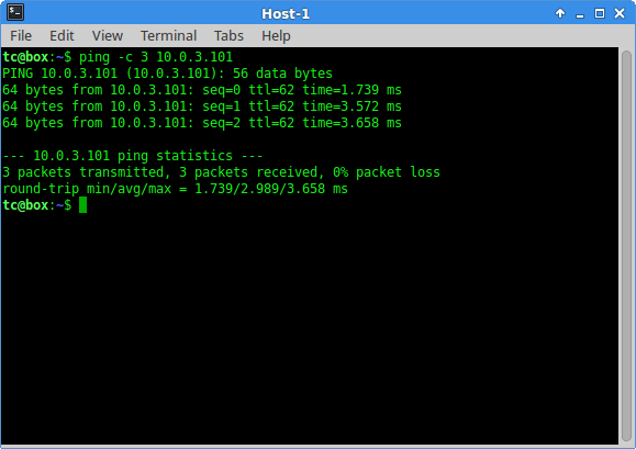 Verify network configuration still works