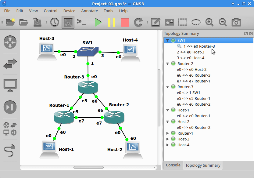 Capture data on open-source router interfaces in GNS3 | Open-Source
