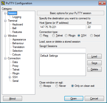 Set up a dedicated virtualization server on Packet net