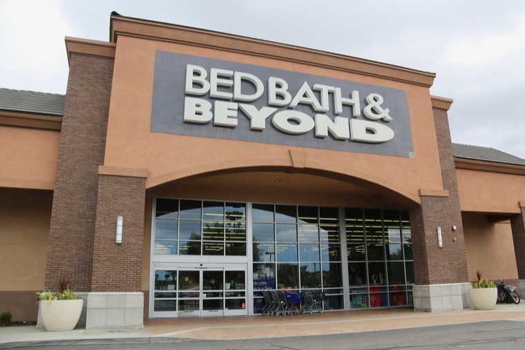The front of a Bed, Bath, & Beyond store