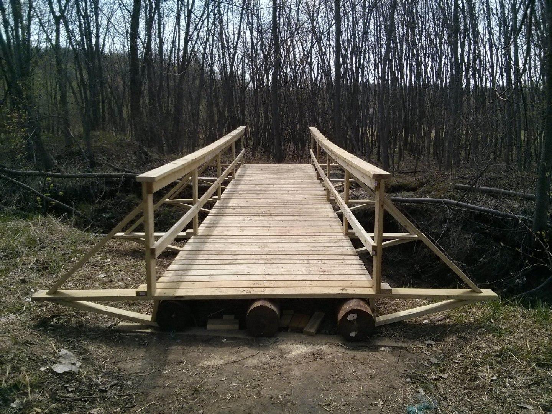 a mtb trail bridge