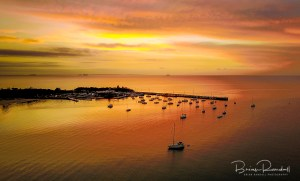 Mornington Sunset - Aerial Artwork