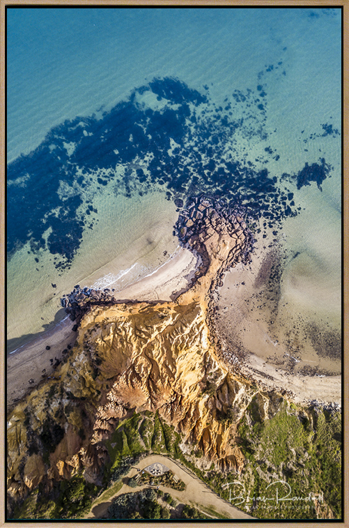 Volcano Black Rock - Aerial Artwork