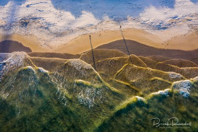 Bay of Mountains - Aerial Artwork