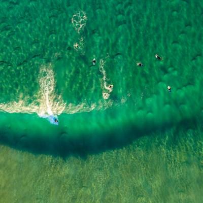 Surf's Up - Aerial Art Work
