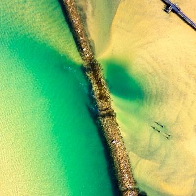 Sea Wall - Aerial Artwork