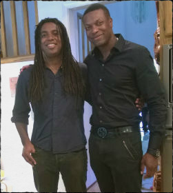 Chris Tucker and me squeeze frame