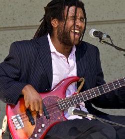eccentric-bass pinstripe suit