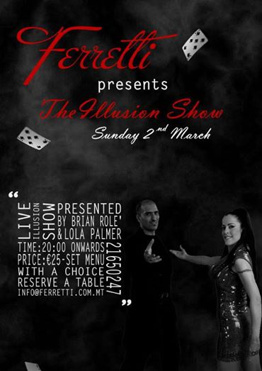 Brian Role' and Lola Palmer in The Illusion Show presented by Ferretti
