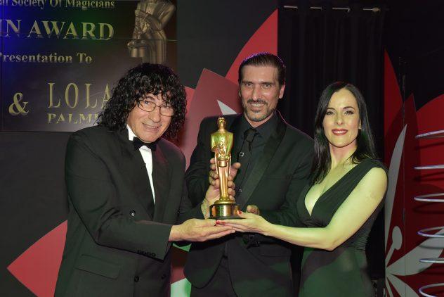 Malta magician Brian Role and Lola Palmer with Tony Hassini