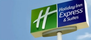 a holiday inn express sign to indicate that I'm smarter today for staying in one last night