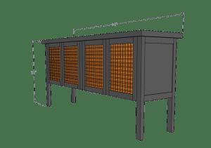 credinza, sideboard