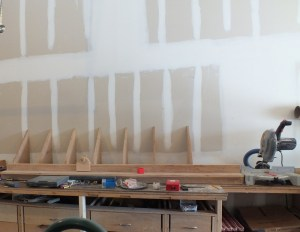 Behind the miter saw station