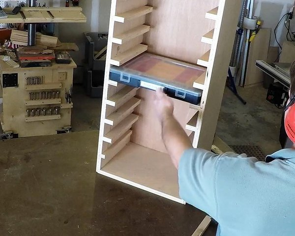 Storage rack for sortimo style sorting bins