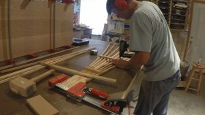 Nailing horizontal trellis slats