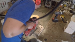 cutting a hole with a jigsaw