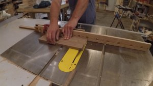 Cutting a miter on a board