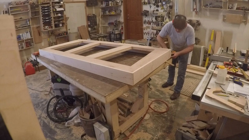 Building a Custom Door with Trapezoid Glass Accents | Brian Benham's