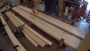 laminating legs using 8/4 lumber