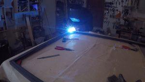 Welding a miter on steel