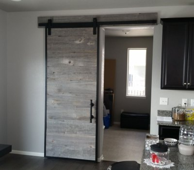 Barn door from reclaimed barn wood