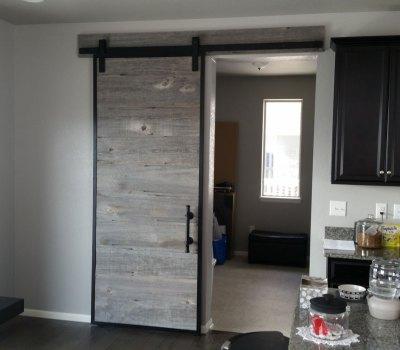 Barn door from reclaimed barn wood