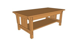 Arts and crafts style coffee table how to plans