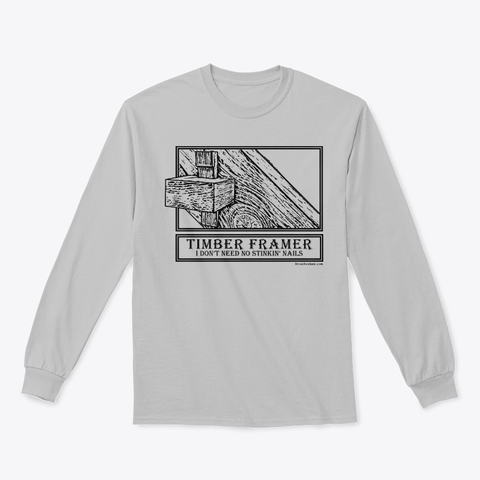 timber framing in the winter t shirt
