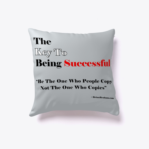 The Key To being Successful pillow