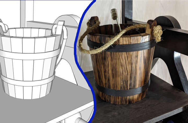 Designing a Wooden Bucket in SketchUp