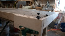 workbench with dog holes