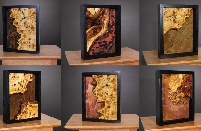 Copper Clocks handmade by Brian Benham of Benham Design Concepts