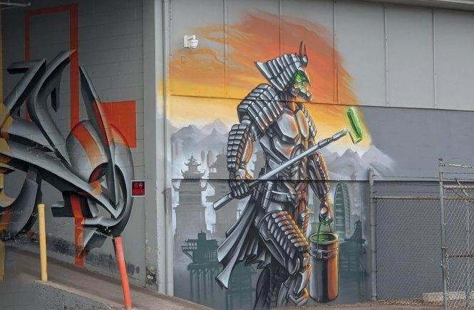 Spray Painted Street Art on Building